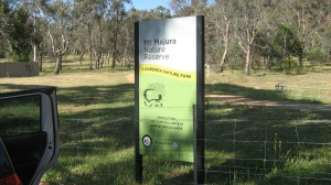 Mt Majura sign
