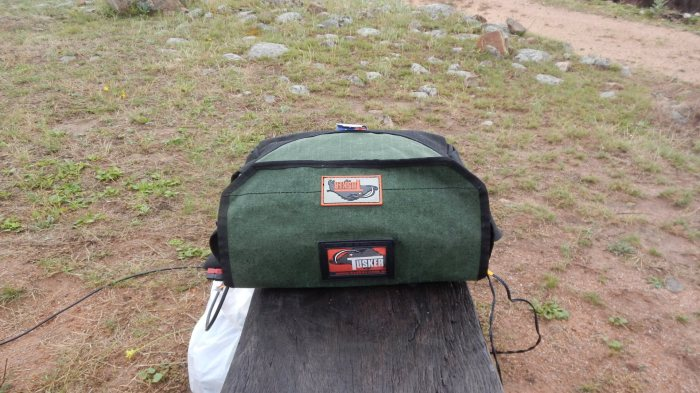 canvas tool bag protecting the radio gear